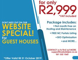 Website Special for Guest Houses | Postmasburg Accommodation, Business & Tourism Portal